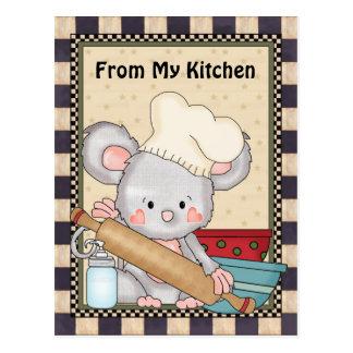 Kochen der MäuseCartoon-Spaßpostkarte Postkarten