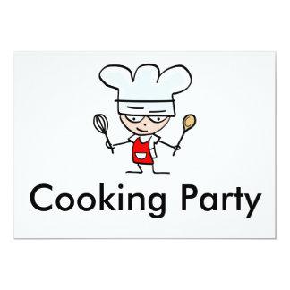 Kochen der Party Einladungen