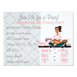 Kochen des Party 10,8 X 14 Cm Einladungskarte