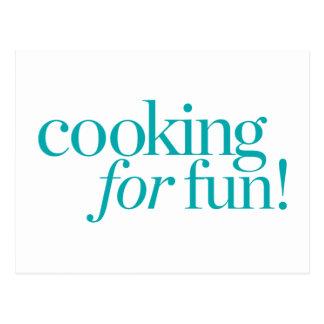 Kochen für Spaß Postkarte