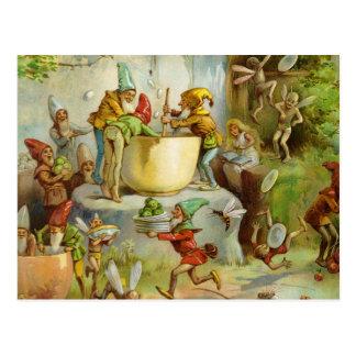 Kochen in der Gnome-Küche Postkarte