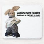 Kochen mit Kaninchen - Mausunterlage Mauspad
