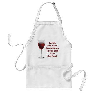 Kochen mit Wein - Schürze