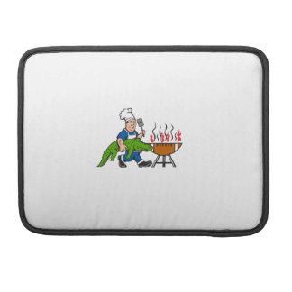 Kochs-Alligatorspachtel GRILLEN Grill-Cartoon MacBook Pro Sleeve
