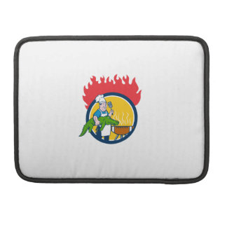 Kochs-Alligatorspachtel GRILLEN Grill-Feuer-Kreis MacBook Pro Sleeve