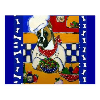 Kochs-Boxer-Hund Postkarte