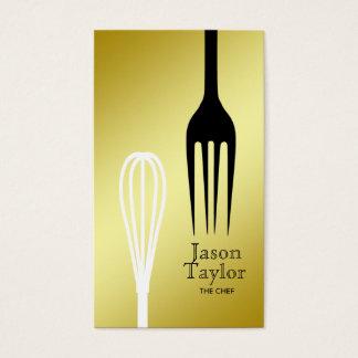 Kochs-Catering-Restaurant-Bäckerei-Gabel wischen Visitenkarte