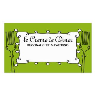 Kochs-Cateringgeschäft c der gelockten Gabeln Visitenkartenvorlage