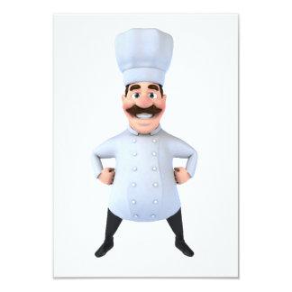 Kochs-Einladungen Karte