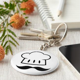 Kochs-Geschenk-Schnurrbart für Standard Runder Schlüsselanhänger