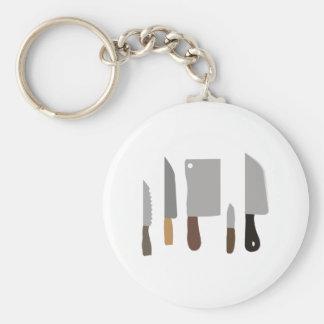 Kochs-Messer Standard Runder Schlüsselanhänger