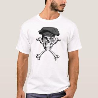 Kochs-Schädel-gekreuzte Knochen: Schwarzes T-Shirt