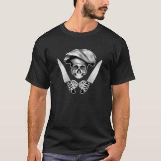 Kochs-Schädel mit Kochs-Messern T-Shirt
