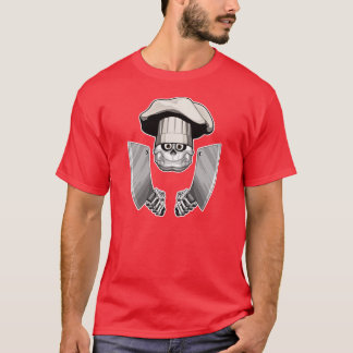 Kochs-Schädel mit Metzger-Messern T-Shirt
