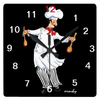 Kochs-Wand-Uhr Quadratische Wanduhr