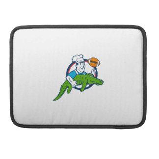 Kochs-wirbelnder Fußball tragen Alligatorkreis MacBook Pro Sleeve