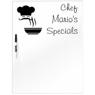 Kochspecials-Koch und dämpfende Schüssel Memoboard