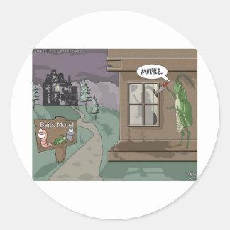 Köder-Motel-lustige Fischen-Cartoon-Geschenke u. Runder Aufkleber