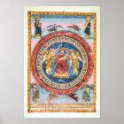 Kodex Amiatinus Christus in der Majestät Poster