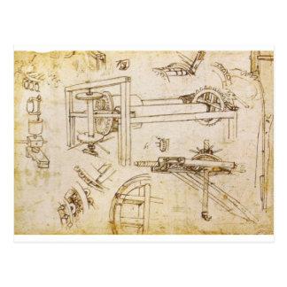 Kodex Atlanticus Postkarte