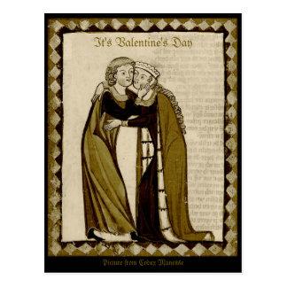 Kodex Manesse CC0035 Valentinsgruß Postkarte