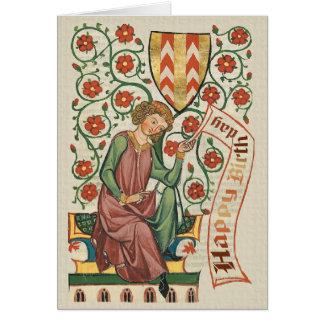 Kodex Manesse CC0555 Geburtstags-Karte Grußkarte