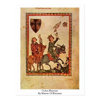Kodex Manesse durch Meister von Manesse Postkarte