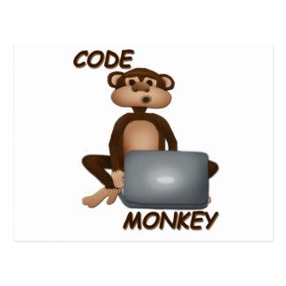 Kodieren Sie Affen Postkarte
