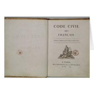 Kodieren Sie ziviles, offen am titlepage, 1804 Karte