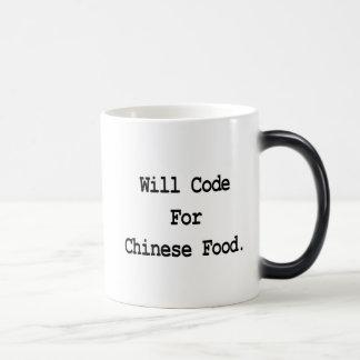 kodiert für chinesische Nahrung Verwandlungstasse