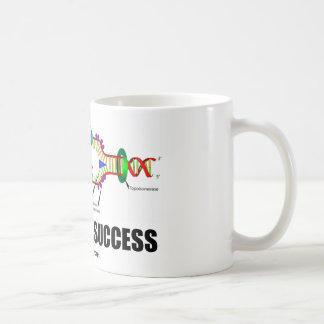 Kodiert für Erfolg DNS-Reproduktion Kaffee Tasse