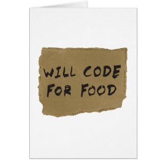 Kodiert für Nahrung Karte