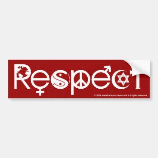 Koexistieren mit Respekt - Friedensgüte u. Autoaufkleber