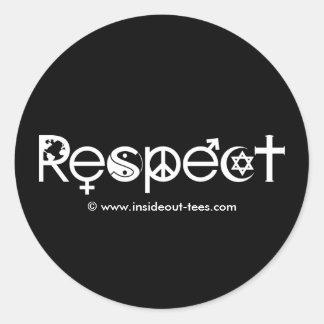 Koexistieren mit Respekt - Friedensgüte u. Runder Aufkleber