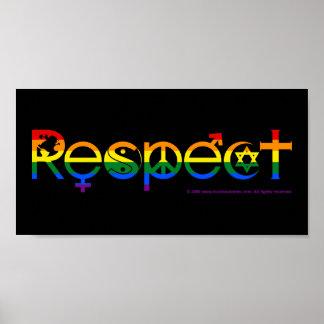 Koexistieren Sie mit Gay Pride des Respekt-LGBT Poster