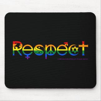 Koexistieren Sie mit Respekt-Gay Pride Mousepad