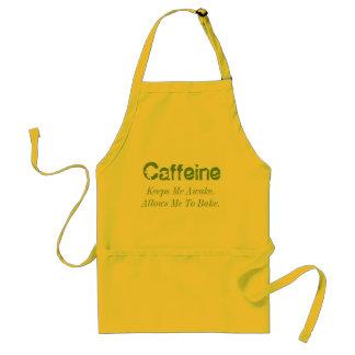 Koffein behält mich wach. Erlaubt mir zu backen Schürze
