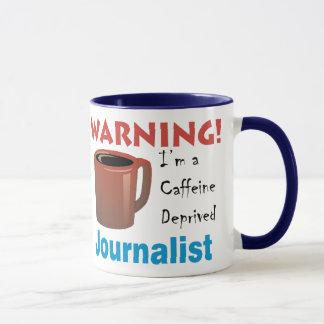 Koffein beraubter Journalist Tasse