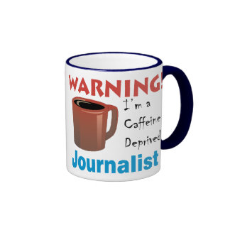 Koffein beraubter Journalist Teetasse