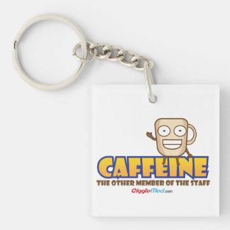 Koffein, das andere Mitglied des Personals Schlüsselanhänger