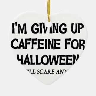 Koffein für Halloween Keramik Herz-Ornament