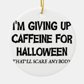 Koffein für Halloween Rundes Keramik Ornament