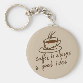 Koffein für Kaffeeliebhaber Schlüsselanhänger