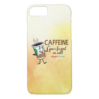 Koffein, Ihr Freund beim Anruf iPhone 8/7 Hülle