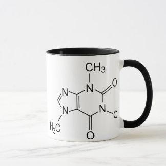 Koffein-Kaffee-Molekül-Chemikalien-Diagramm Tasse