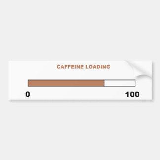 """""""Koffein-Laden-"""" Autoaufkleber"""
