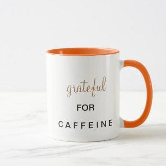 Koffein, Tasse, dankbar, orange, Kaffeetasse