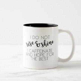 Koffein u. Hoffnung Zweifarbige Tasse