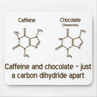 Koffein und Schokolade Mousepad