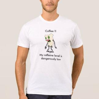 """""""Koffein-waagerecht ausgerichtetes"""" Zombie Tooth® T-Shirt"""